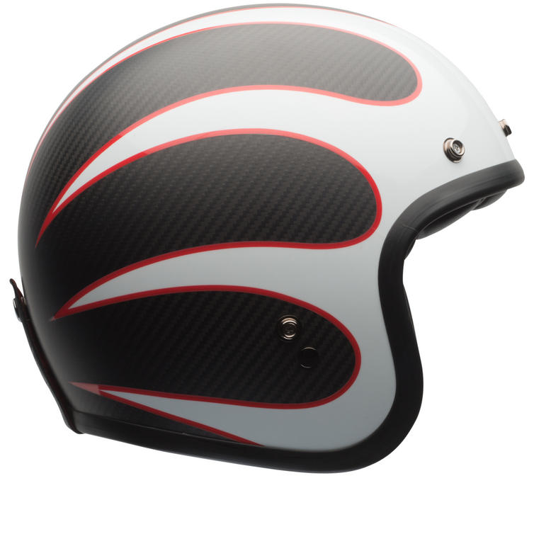 Bell Custom 500 Carbon Ace Cafe Ton Up Deluxe Open Face Motorcycle Helmet