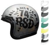 Bell Custom 500 SE RSD 74 Deluxe Open Face Motorcycle Helmet & Visor