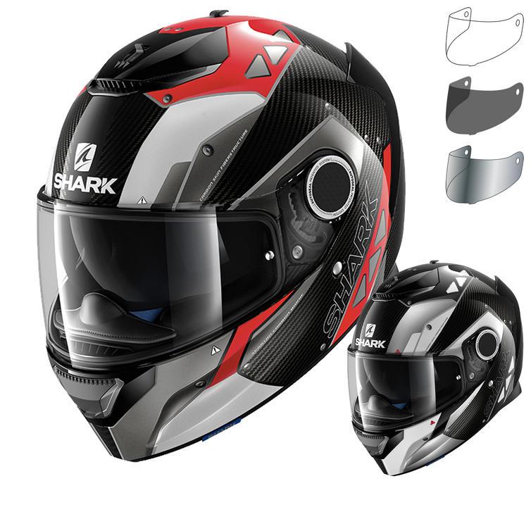 shark spartan carbon bionic motorcycle helmet visor full face helmets. Black Bedroom Furniture Sets. Home Design Ideas