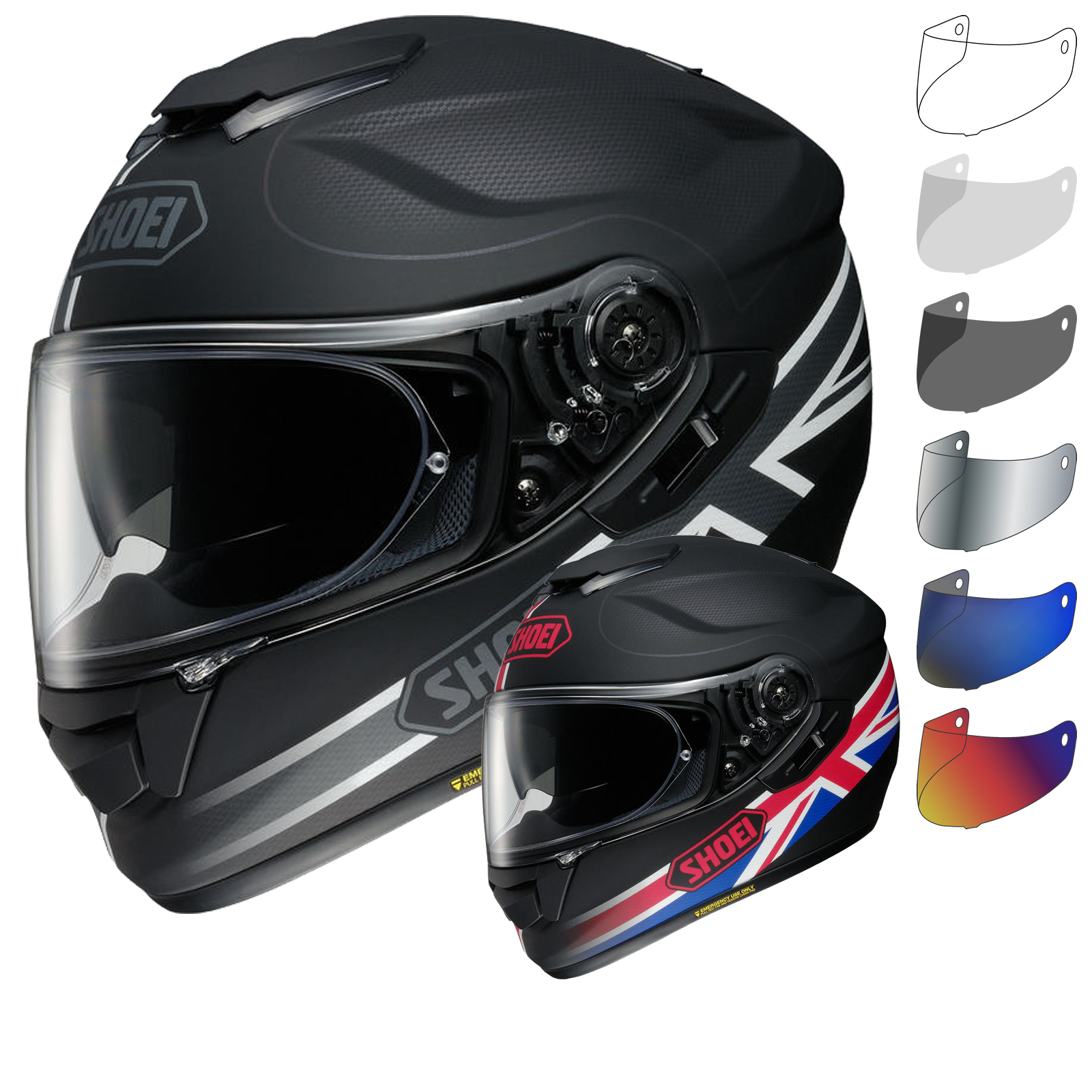 shoei gt air royalty motorcycle helmet visor full face helmets. Black Bedroom Furniture Sets. Home Design Ideas