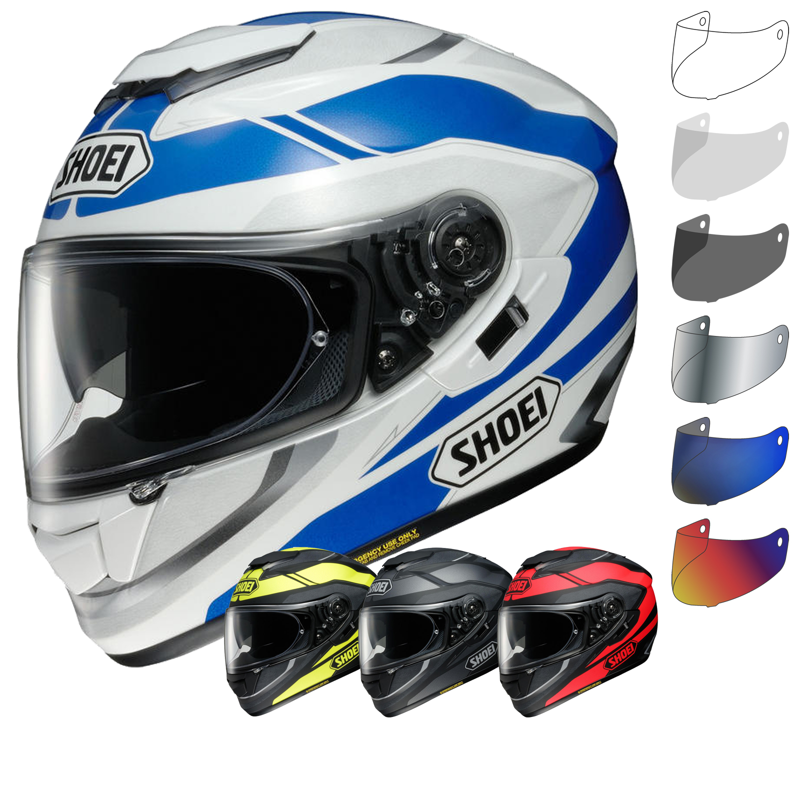 shoei gt air swayer motorcycle helmet visor full face helmets. Black Bedroom Furniture Sets. Home Design Ideas
