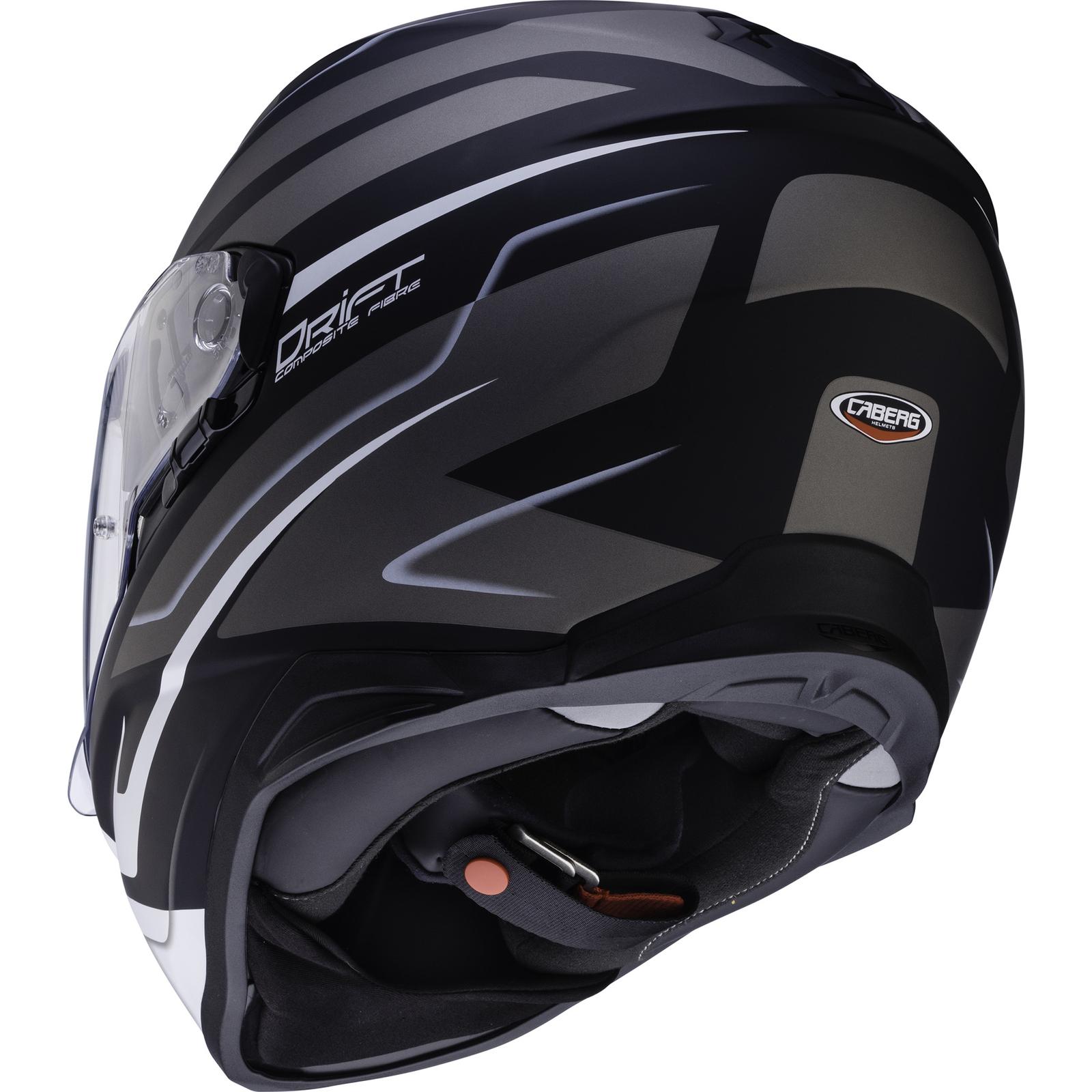 6712f494 Caberg Drift Shadow Matt Black White Anthracite Motorcycle Helmet ...