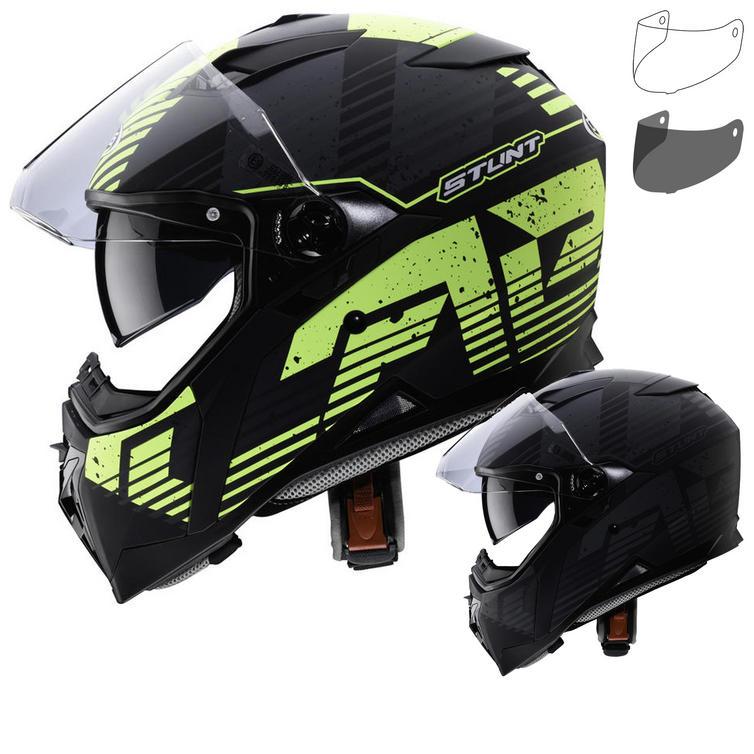 Caberg Stunt Blizzard Motorcycle Helmet & Visor