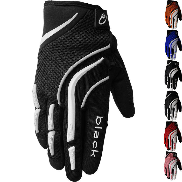 Black Raw Kids Motocross Gloves