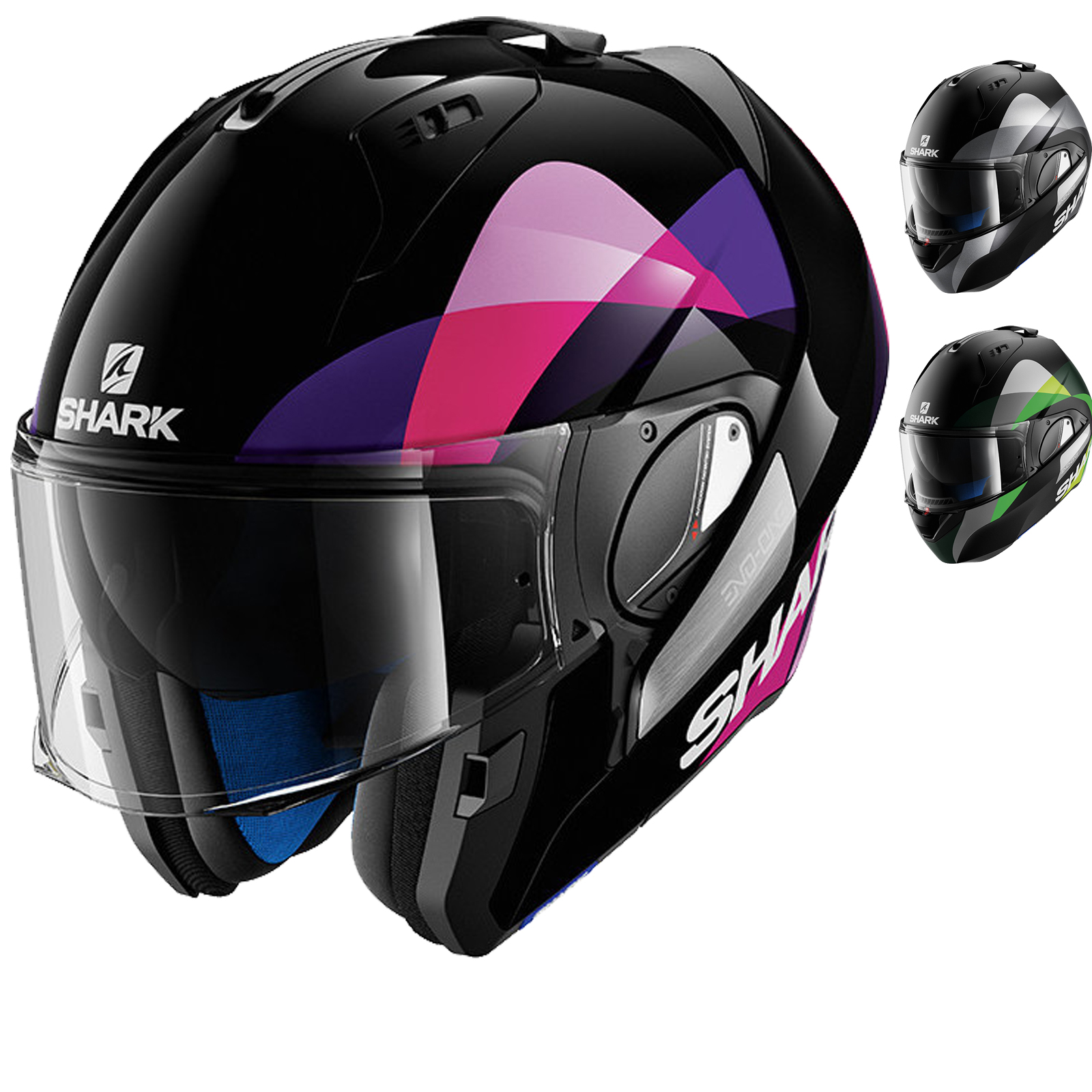 shark evo one priya flip front motorcycle helmet flip front helmets. Black Bedroom Furniture Sets. Home Design Ideas