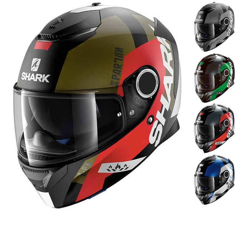 Shark Spartan Apics Motorcycle Helmet