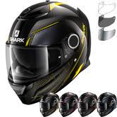 Shark Spartan Carbon Silicium Motorcycle Helmet & Visor