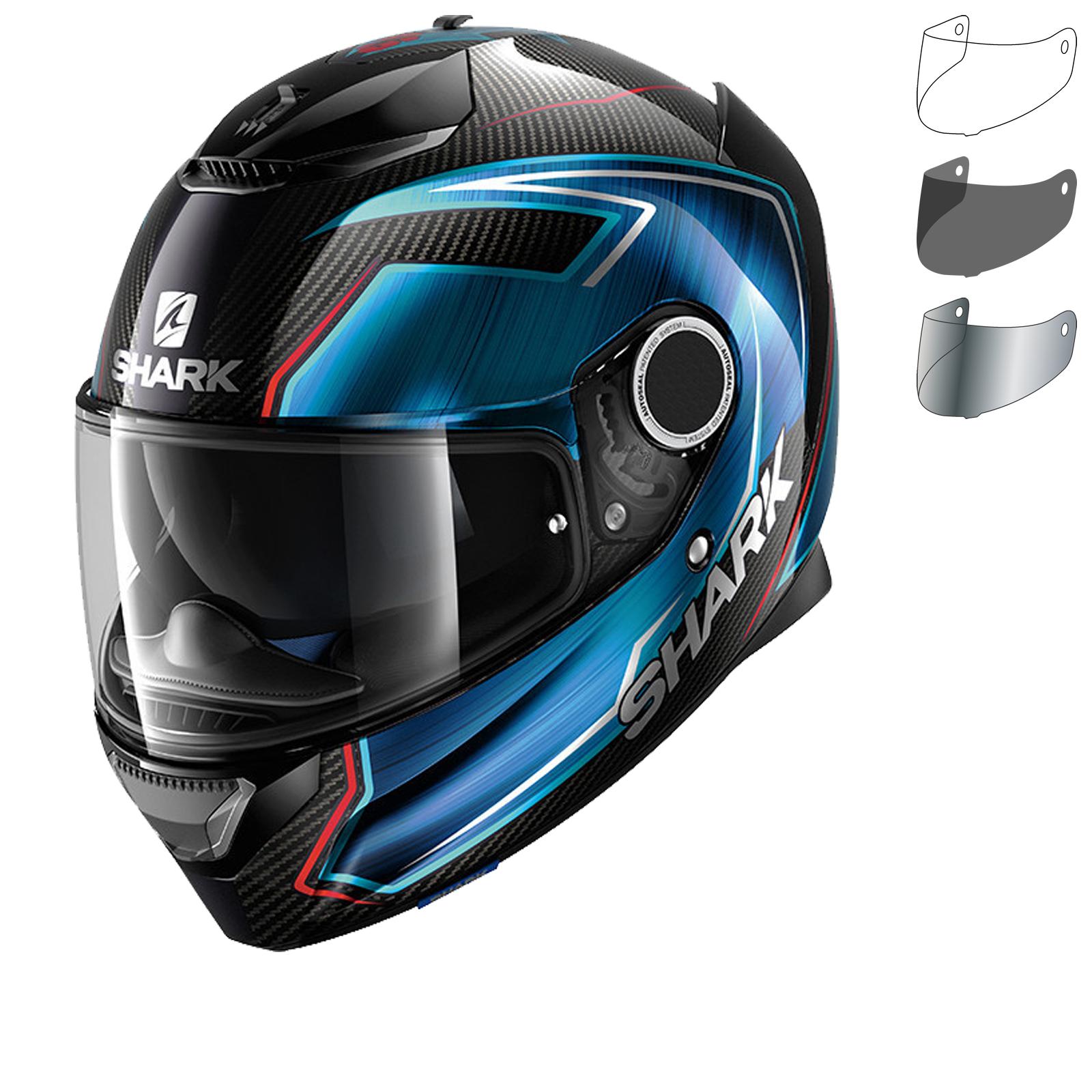 shark spartan carbon guintoli motorcycle helmet amp visor