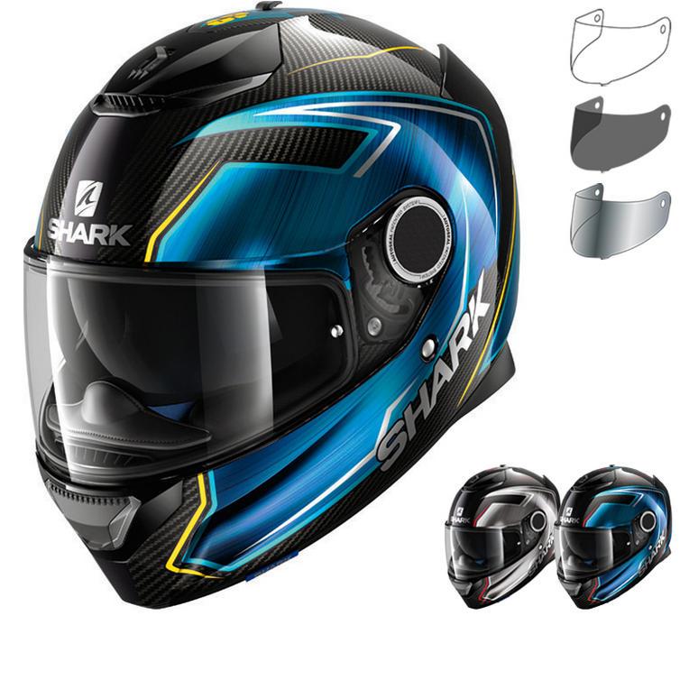 Shark Spartan Carbon Guintoli Motorcycle Helmet & Visor