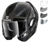 Shark Evoline Pro Carbon Dual Touch Dakfor Flip Front Motorcycle Helmet & Visor