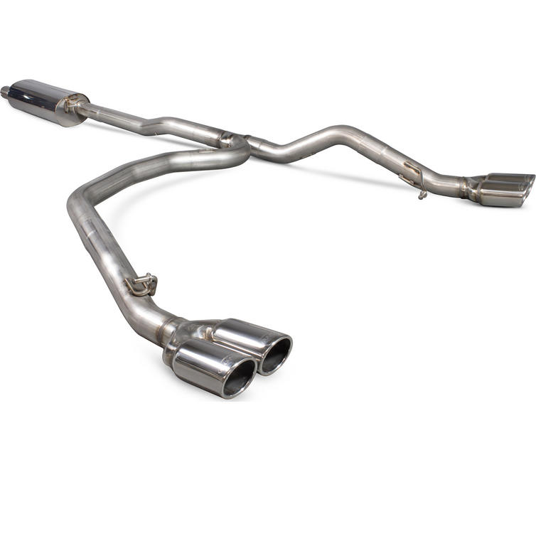 Scorpion Exhaust Cat/DPF-Back (Res) Quad Monaco - Volkswagen T5 Transporter & Caravelle