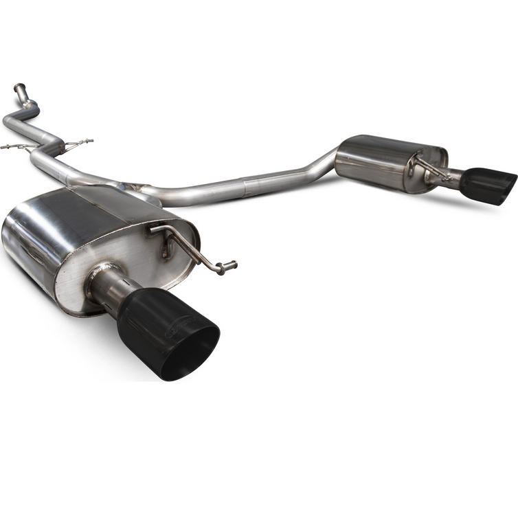 Scorpion Exhaust Cat-Back Twin Daytona BLK - Audi A5 B8 2.0 TFSi 12+