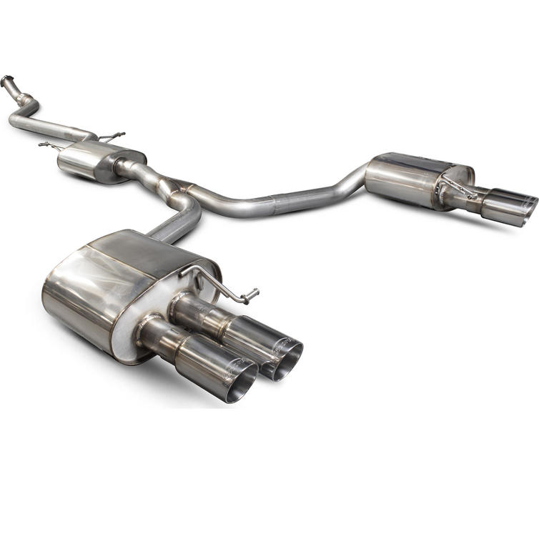 Scorpion Exhaust Cat-Back (Res) Quad Daytona - Audi A5 B8 2.0 TFSi 12+