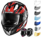 Shark Ridill Oxyd Motorcycle Helmet & Visor