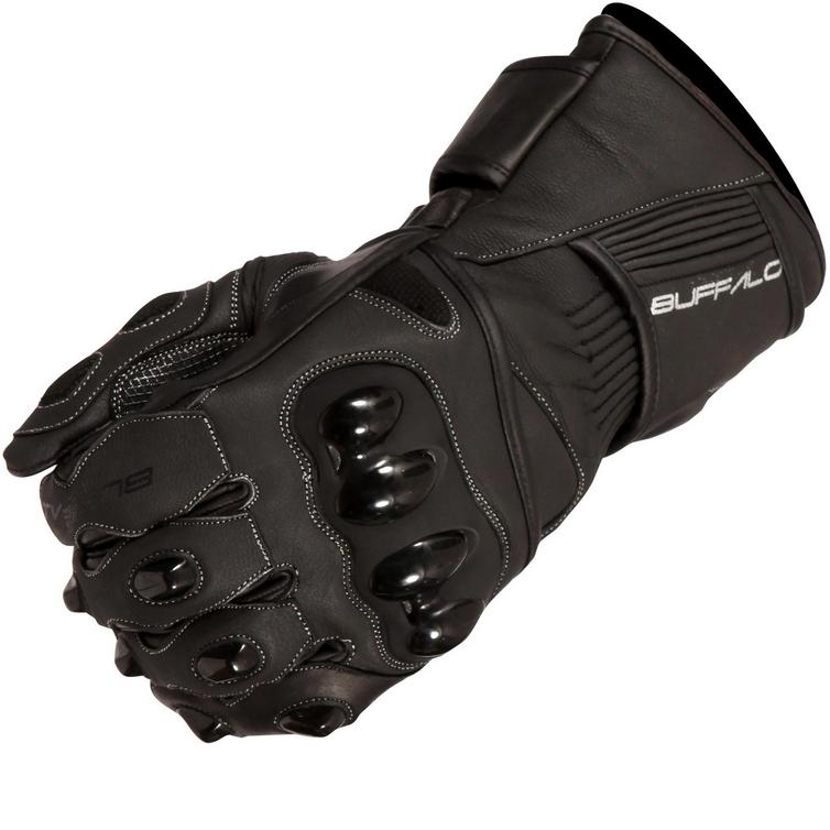 Buffalo Spartan Leather Motorcycle Gloves