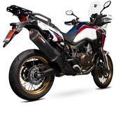 Scorpion Serket Parallel Black Ceramic Oval Exhaust - Honda CRF 1000 L Africa Twin 2015 - 2017