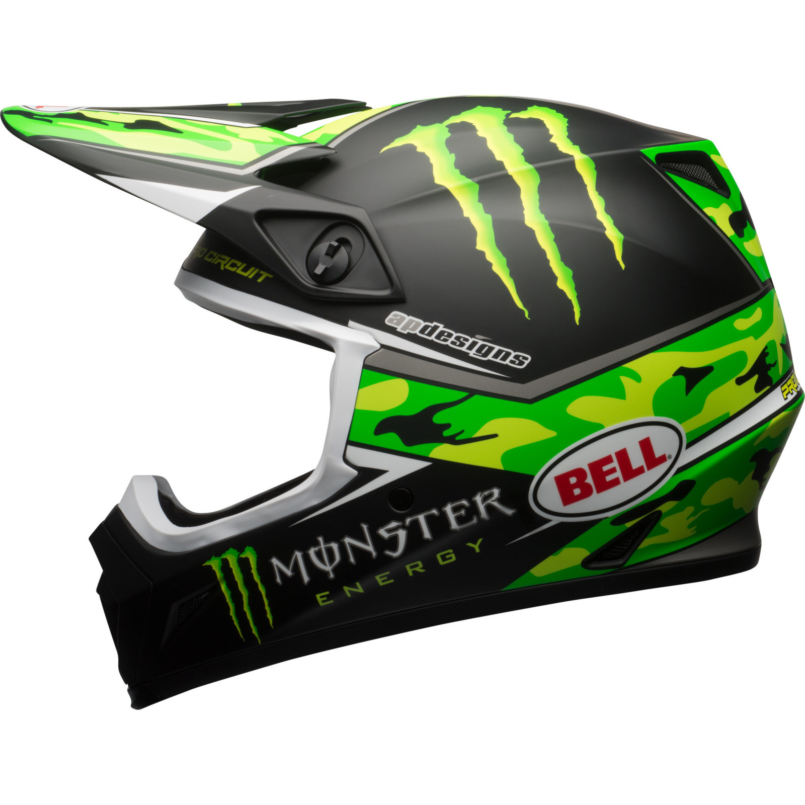 2017 bell mx 9 mips pro circuit monster energy camo. Black Bedroom Furniture Sets. Home Design Ideas