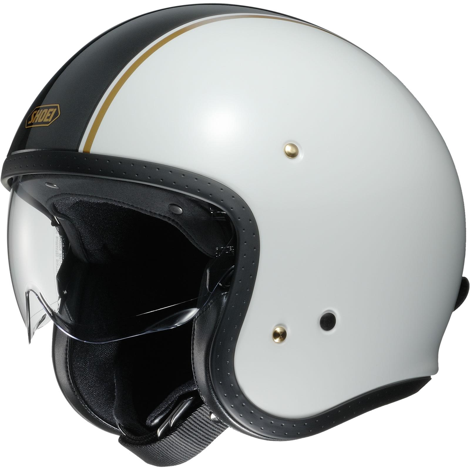 Shoei-J-O-Carburettor-Open-Face-Motorcycle-Helmet-amp-Visor-Retro-Motorbike-Jet