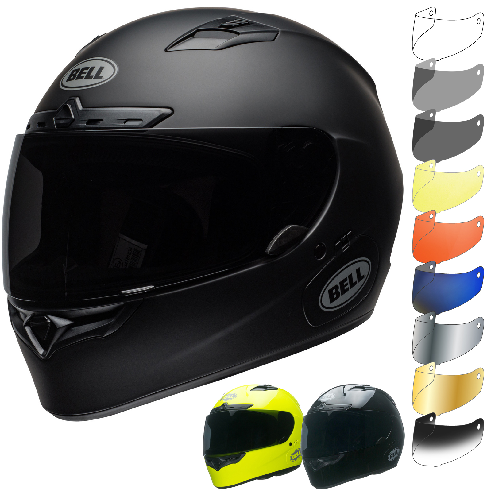 Bell Qualifier Dlx >> Bell Qualifier DLX MIPS Solid Motorcycle Helmet & Visor - Full Face Helmets - Ghostbikes.com