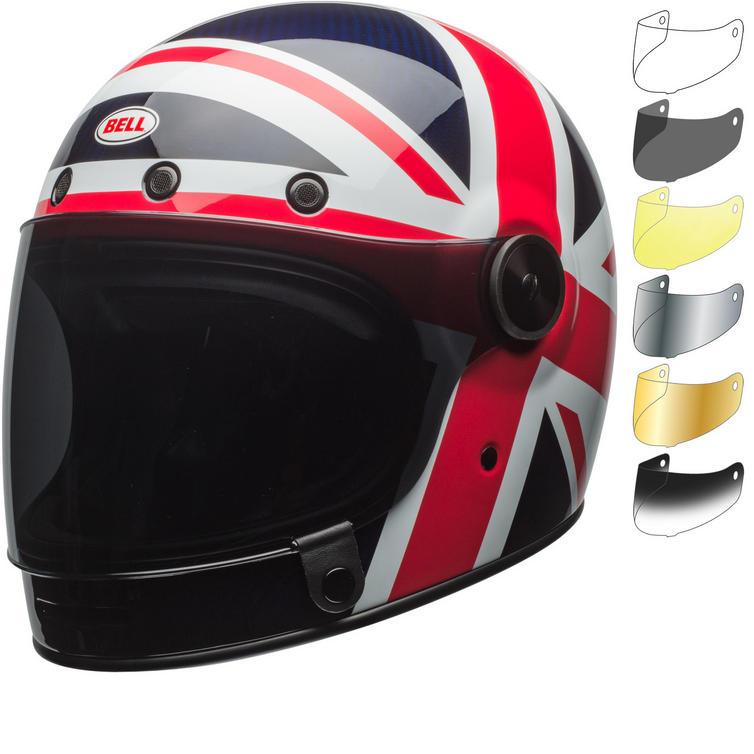 Bell Bullitt Carbon Spitfire Motorcycle Helmet & Visor