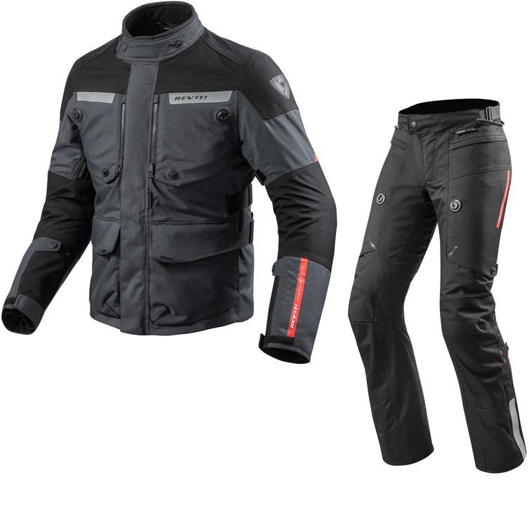 Rev It Horizon 2 Motorcycle Jacket & Trousers Anthracite Black Kit