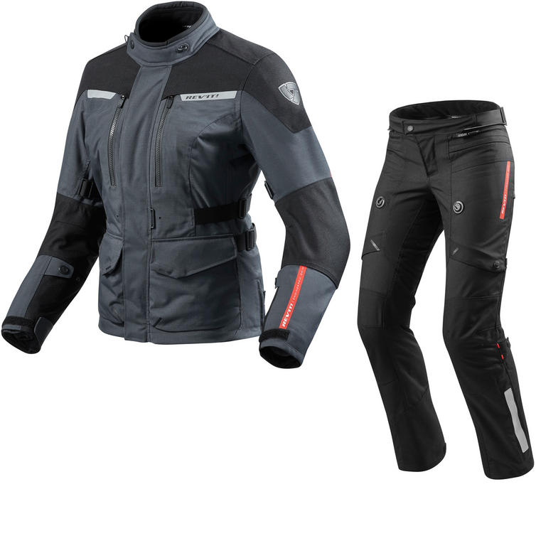 Rev It Horizon 2 Ladies Motorcycle Jacket & Trousers Anthracite Black Kit