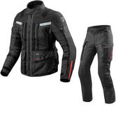 Rev It Sand 3 Motorcycle Jacket & Trousers Black Kit