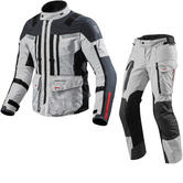 Rev It Sand 3 Motorcycle Jacket & Trousers Silver Anthracite Kit