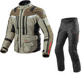 Rev It Sand 3 Motorcycle Jacket & Trousers Sand Black Kit