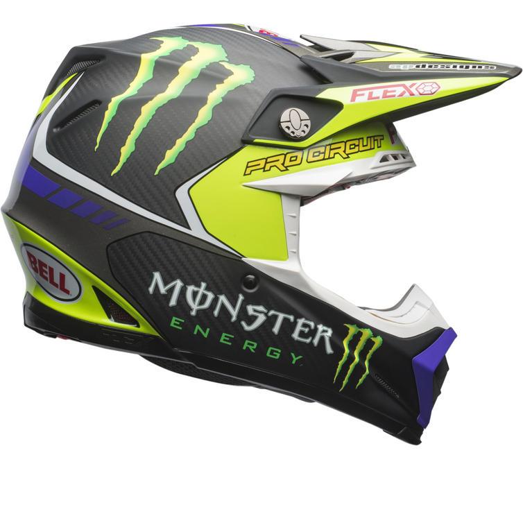 Bell Moto-9 Flex Monster Pro Circuit 17 Motocross Helmet
