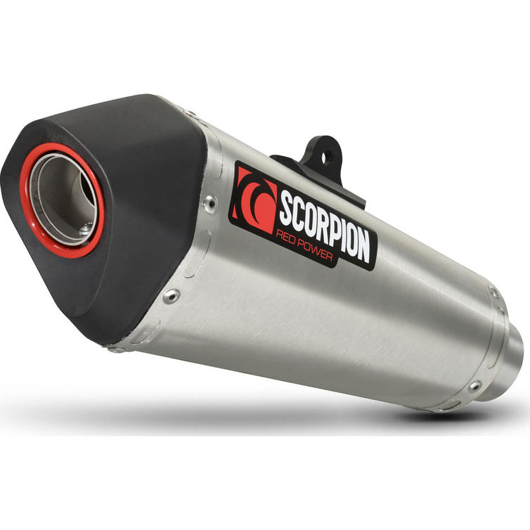 Scorpion Serket Taper Stainless Oval Exhaust - Triumph Speed Triple 1050 16-on
