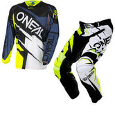 Oneal Hardwear 2017 Flow Jag Limited Edition Black Neonl Motocross Kit