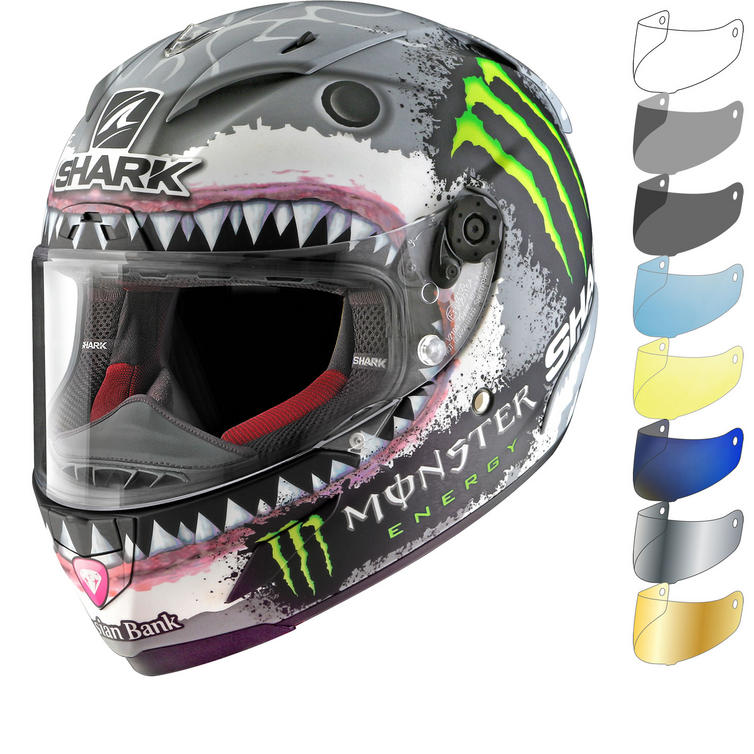 Shark Race-R Pro Carbon Lorenzo White Shark Limited Edition Motorcycle Helmet & Visor