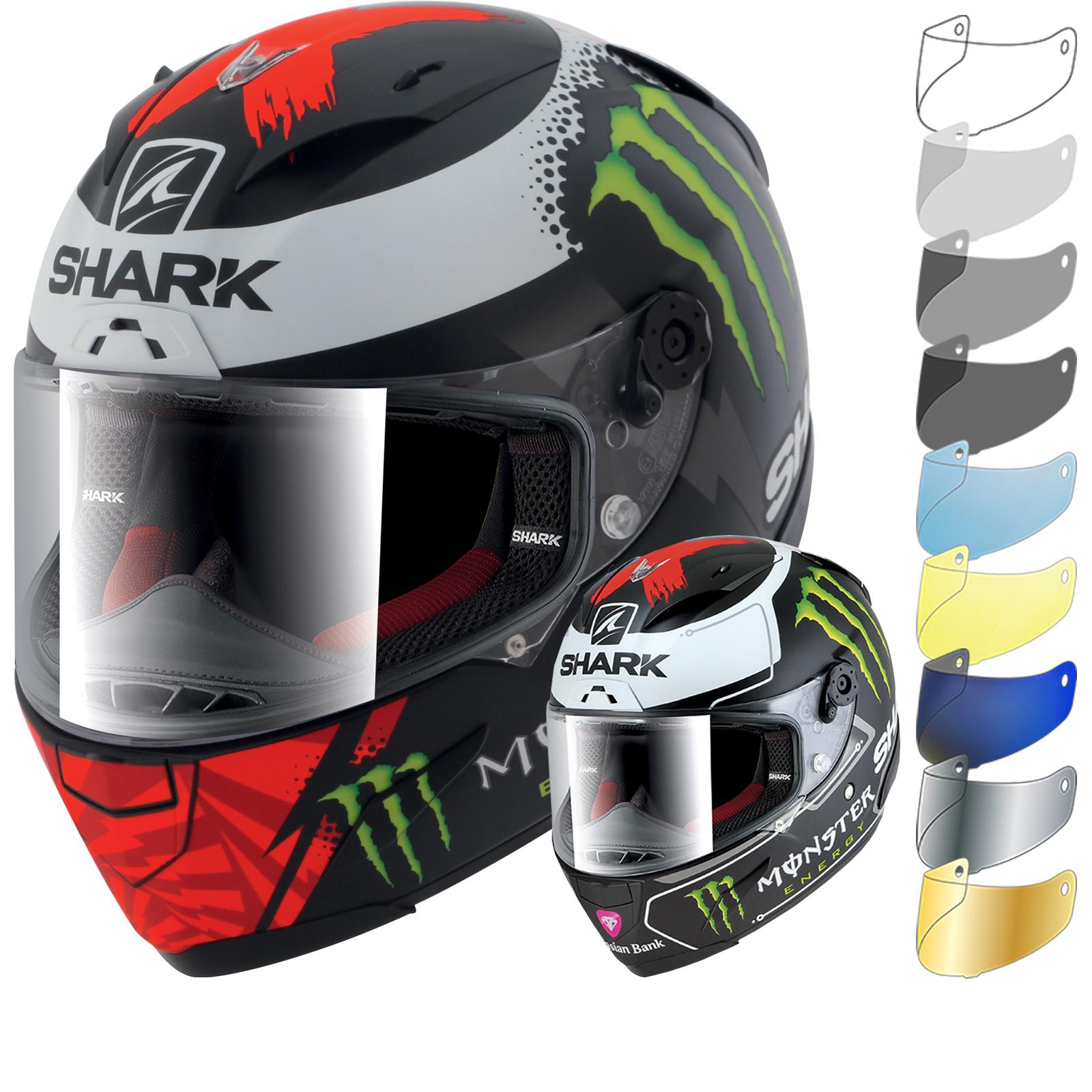 shark race r pro lorenzo monster motorcycle helmet visor full face helmets. Black Bedroom Furniture Sets. Home Design Ideas