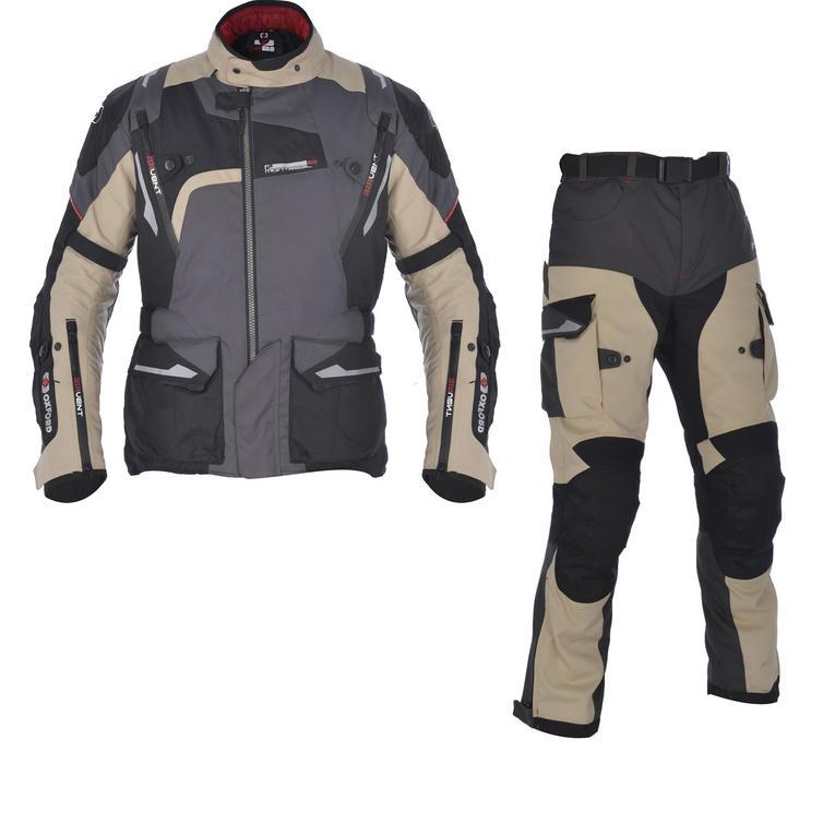 Oxford Montreal 2.0 Motorcycle Jacket & Trousers Desert Kit