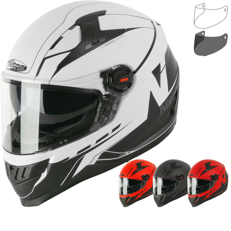 Nitro N2200 Analog DVS Motorcycle Helmet & Visor