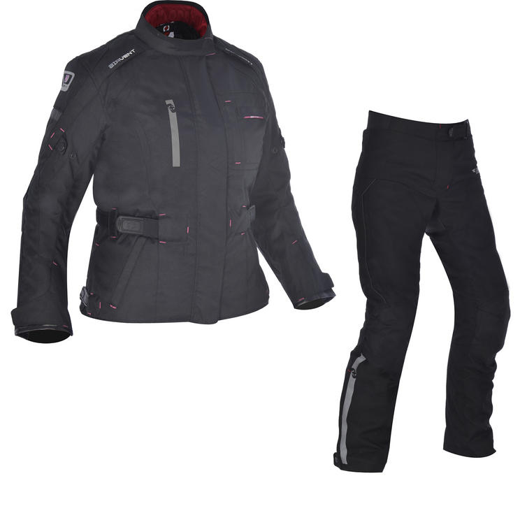 Oxford Dakota 1.0 Ladies Motorcycle Jacket & 2.0 Trousers Tech Black Kit