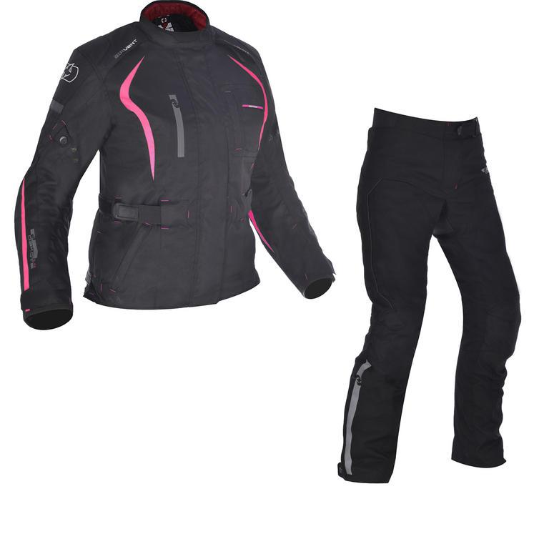 Oxford Dakota 1.0 Ladies Motorcycle Jacket & 2.0 Trousers Black Pink Kit