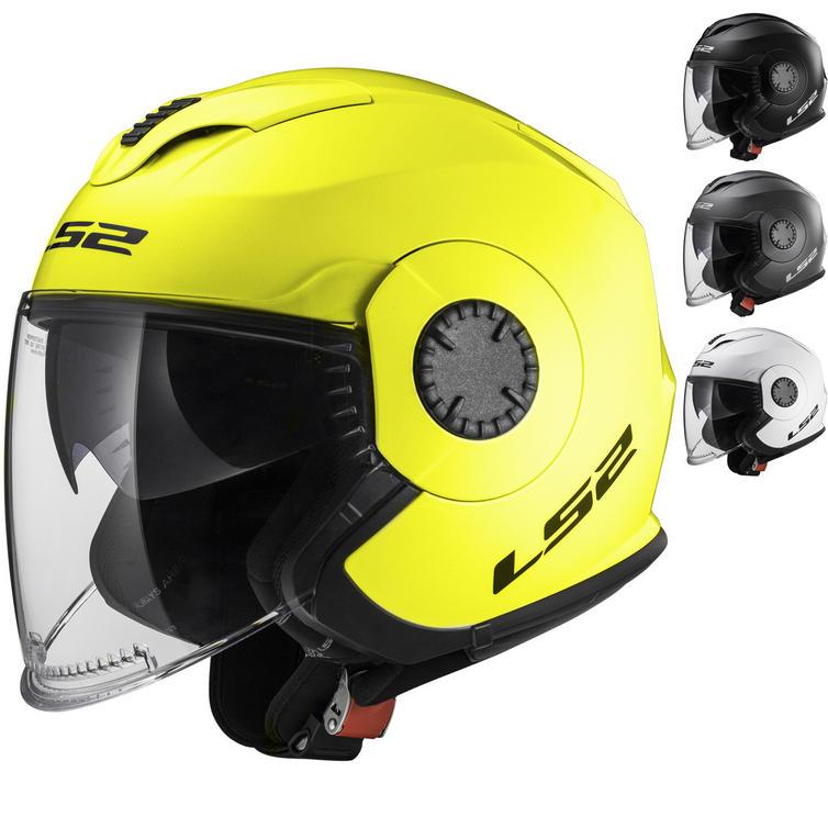 LS2 OF570 Verso Solid Open Face Motorcycle Helmet