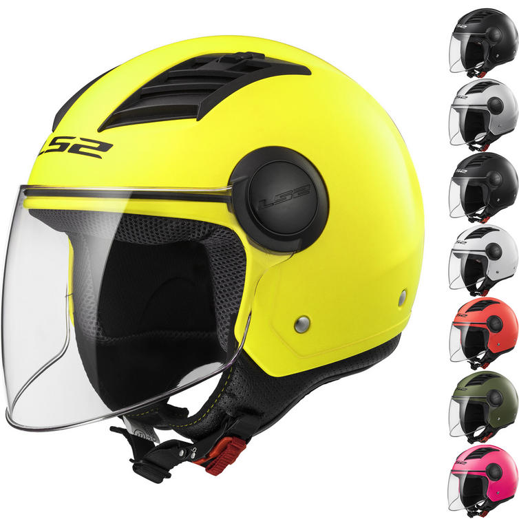 LS2 OF562 Airflow L Solid Open Face Motorcycle Helmet