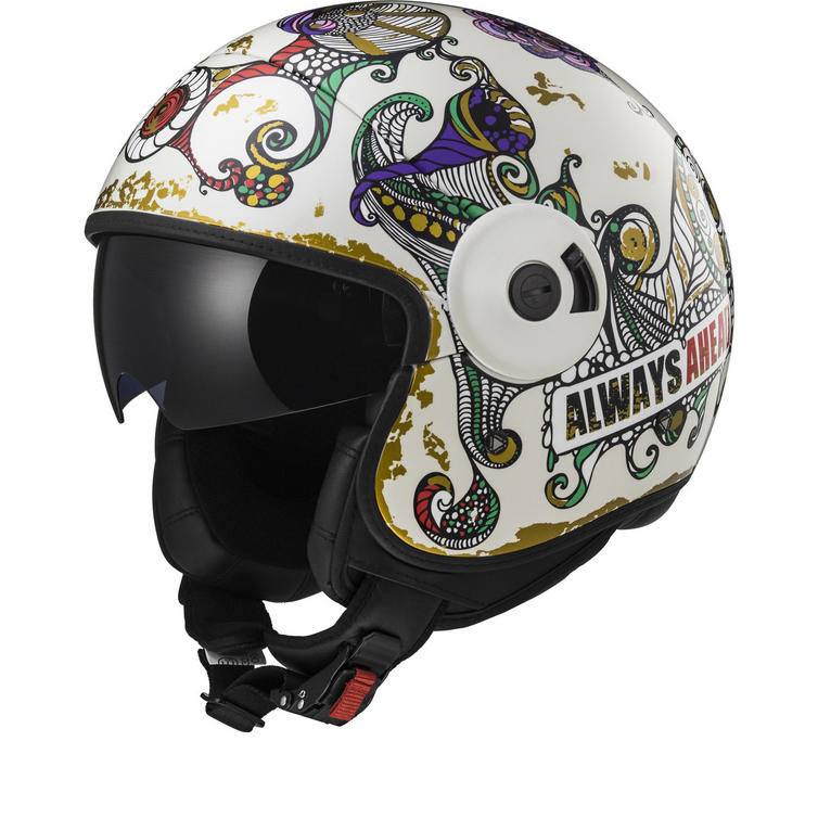 LS2 OF597 Cabrio Flaunt Open Face Motorcycle Helmet
