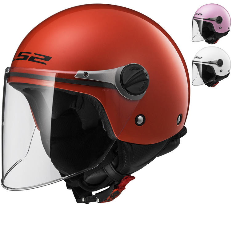 LS2 OF575J Wuby Solid Youth Open Face Motorcycle Helmet