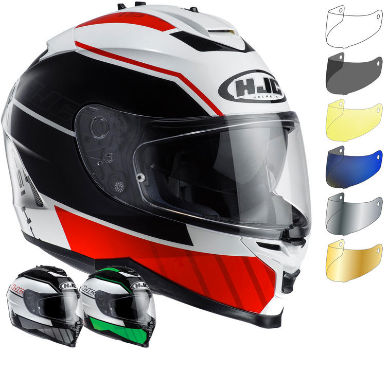 HJC IS-17 Tridents Motorcycle Helmet & Visor