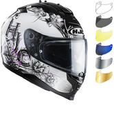 HJC IS-17 Barbwire Ladies Motorcycle Helmet & Visor