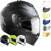 HJC IS-17 Plain Motorcycle Helmet & Visor