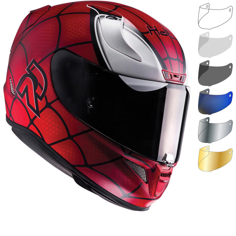 HJC RPHA 11 Spiderman Motorcycle Helmet & Visor