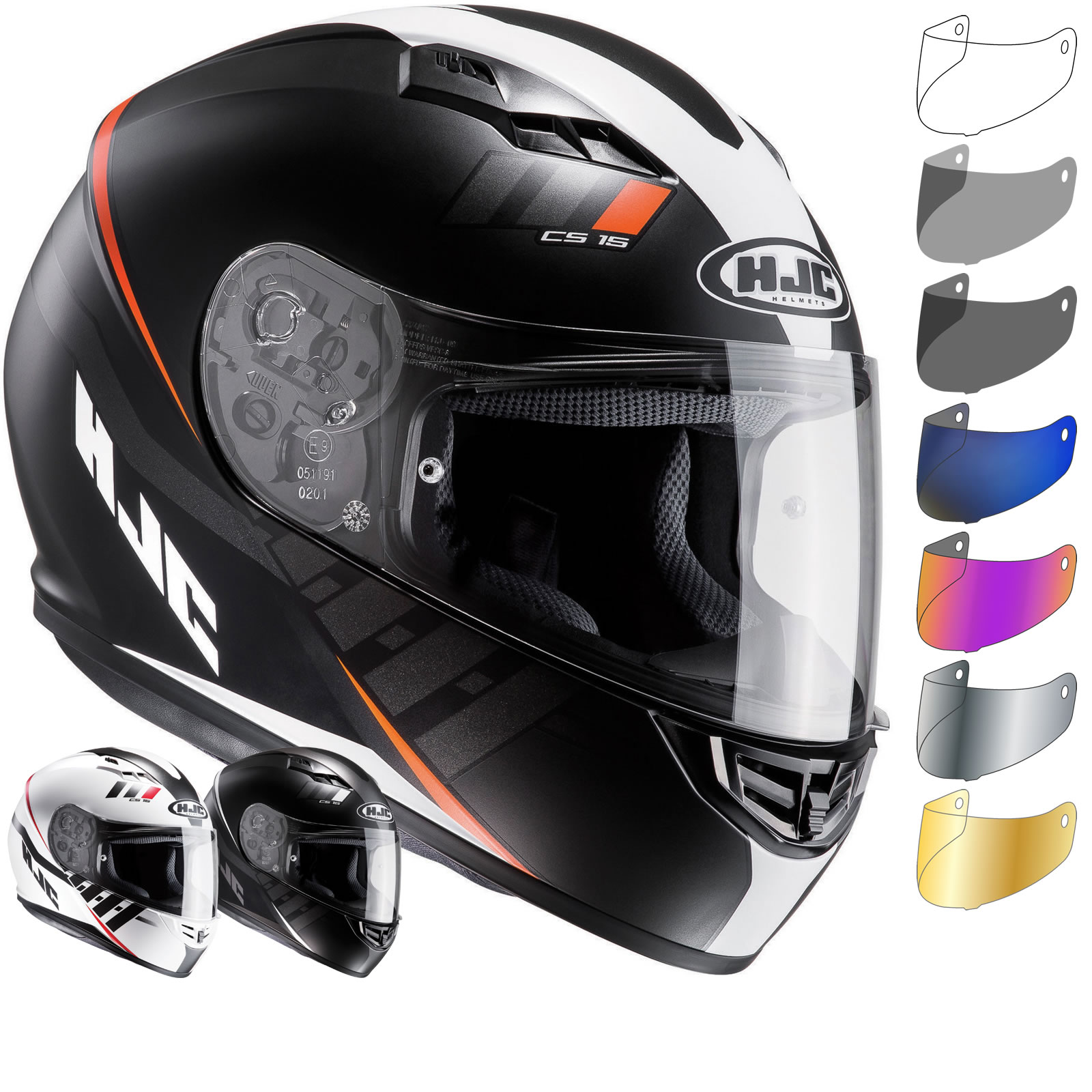 HJC CS 15 Space Motorcycle Helmet & Visor Full Face Helmets