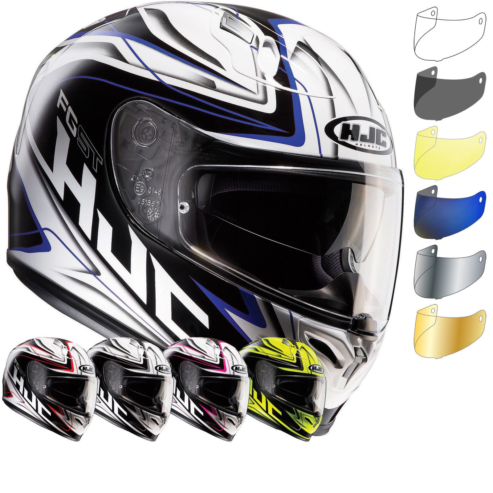 hjc fg st crucial motorcycle helmet visor full face helmets. Black Bedroom Furniture Sets. Home Design Ideas