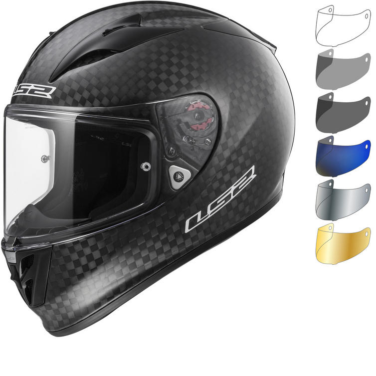 LS2 FF323 Arrow C Evo Solid Carbon Motorcycle Helmet & Visor