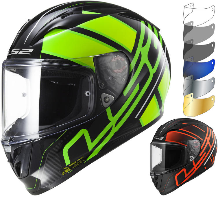 LS2 FF323 Arrow R Evo Ion Motorcycle Helmet & Visor